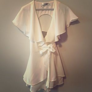 Stunning white romper! Perfect for bridal events!